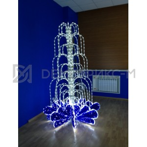 Фонтан cветодиодный синий 1,6x1,6x2,5 м, 5456 LED, IP44 с контроллером