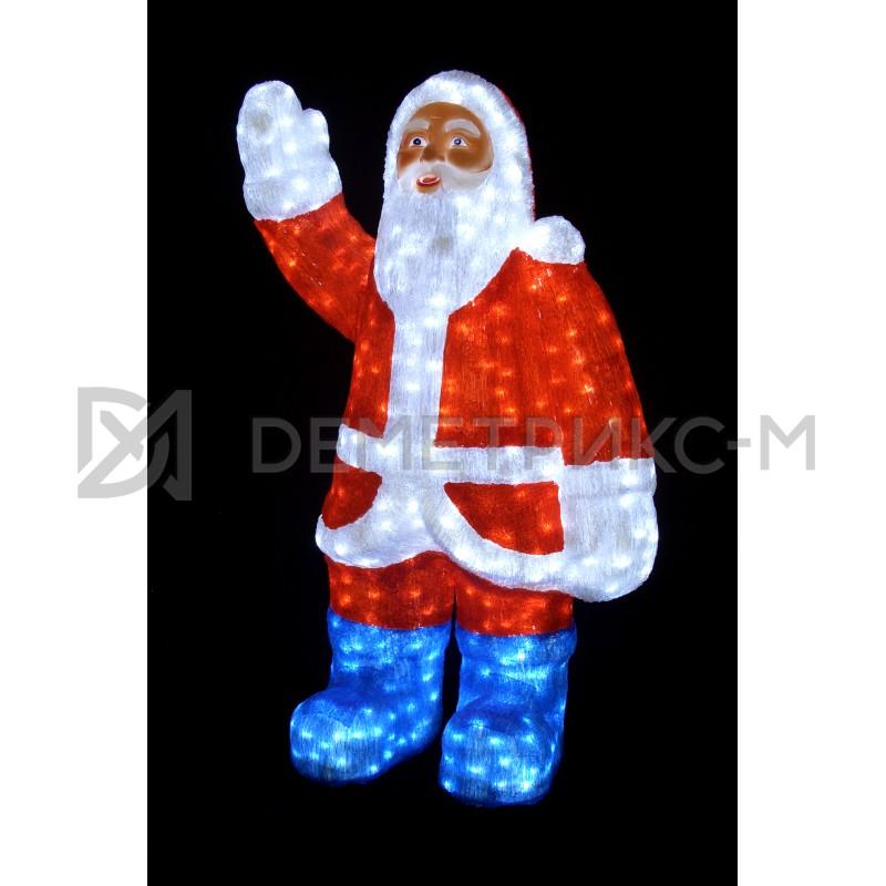Дед Мороз светодиодный 3D 120х80 см, 24V/80W