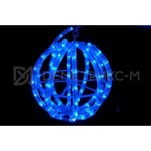 Шар синий из светодиодного дюралайта, диаметром 30 см