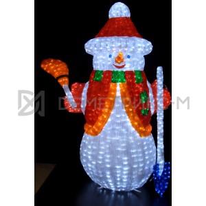 Снеговик светодиодный 3D 175х125 см, 24V/130W