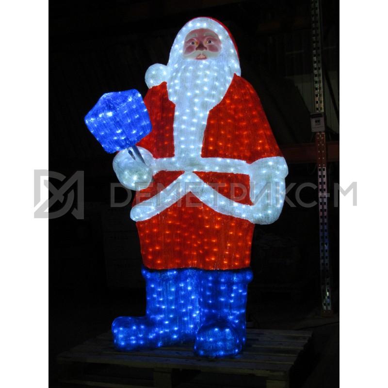 Дед Мороз светодиодный 3D 210х130 см, 24V/150W