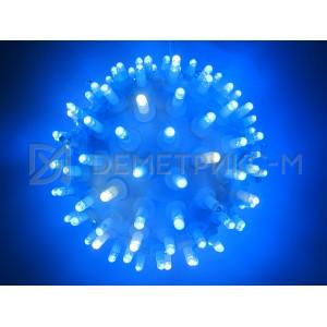 Шар Синий подвесной с белыми Flash диодами, диаметр 16см.