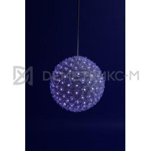 Шар с цветками светодиодный синий изготовлен из пластика, диаметр 16 см, 160 LED