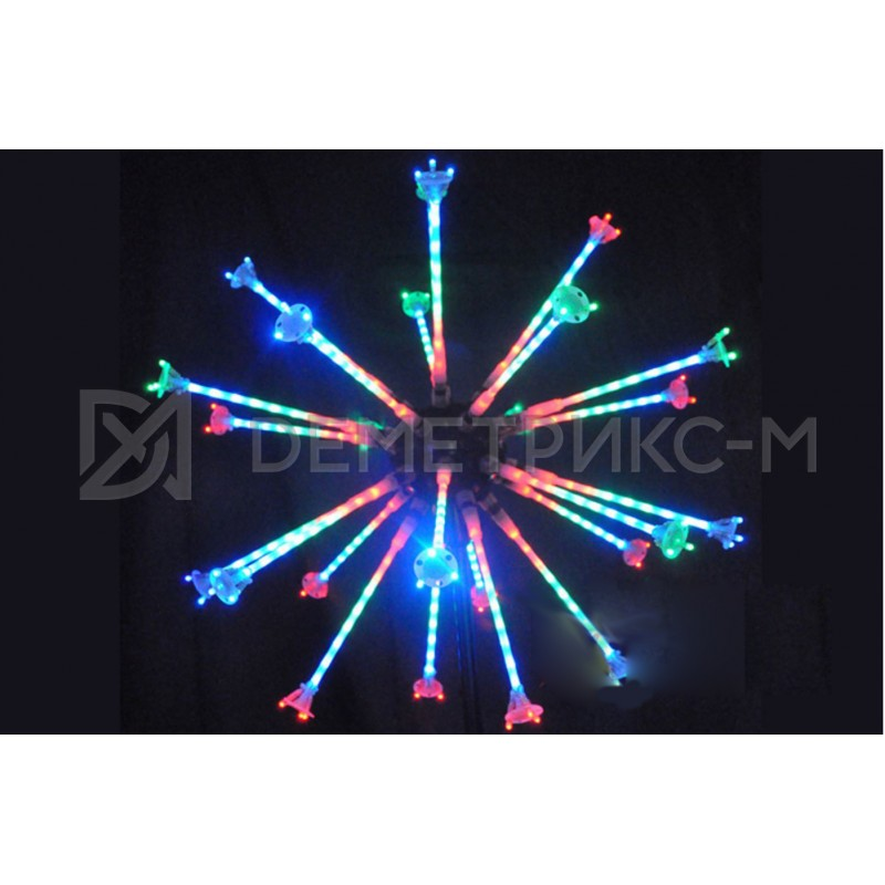 "Фейерверк ""Мини Шар"" 1,2 м, 550 светодиодов, на опоре"
