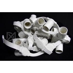 Белт-Лайт 5-х проводной Чейзинг, Белый провод, Белые патроны (бухта 50 м), 333 патронов E27