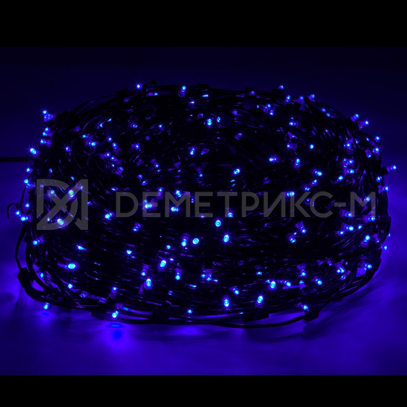 Клип лайт Синий Фиксинг (постоянное) 12V/6W, бухта 30 м 100 LED