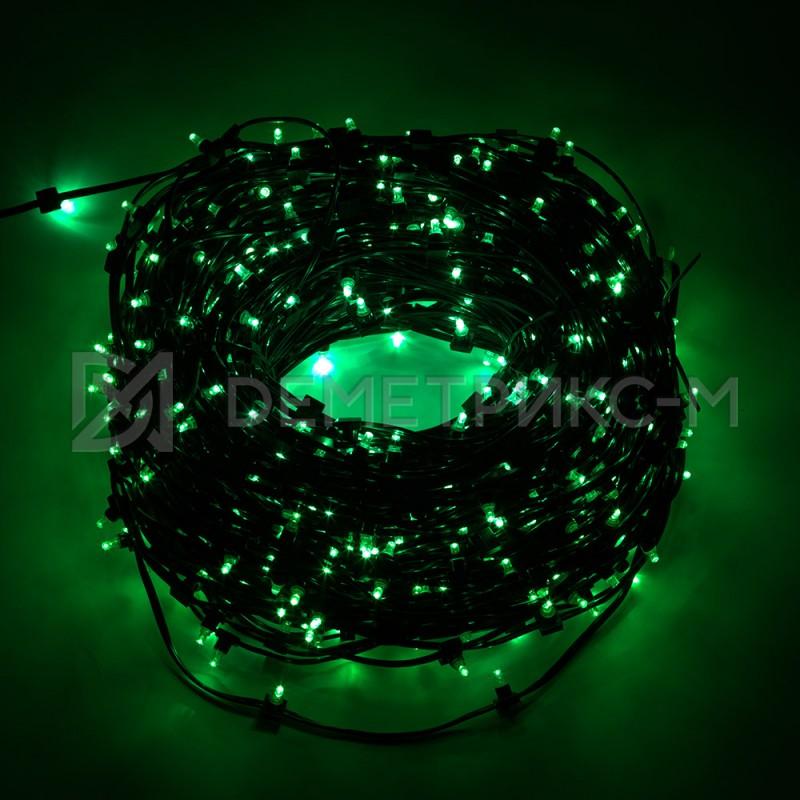 Клип лайт Зеленый Фиксинг (постоянное) 12V/6W, бухта 30 м 100 LED
