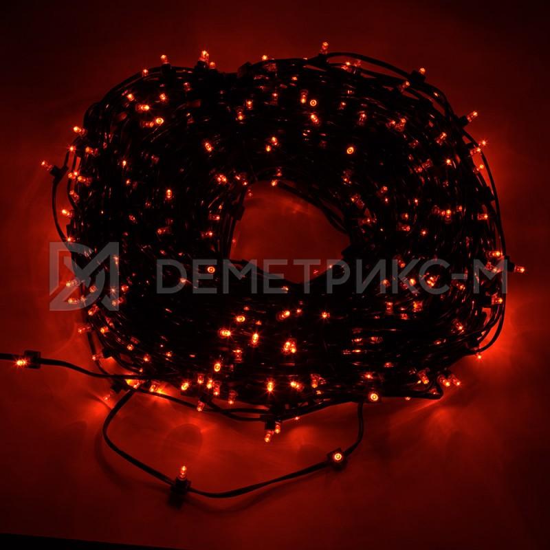 Клип лайт Красный Фиксинг (постоянное) 12V/6W, бухта 30 м 100 LED