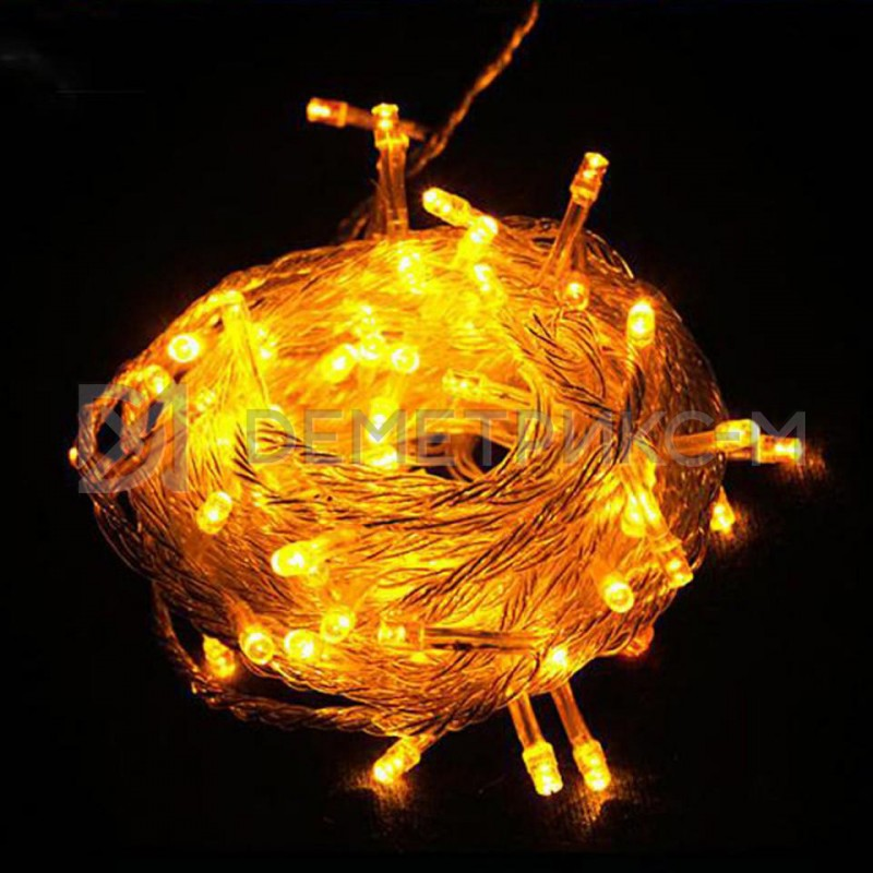 Клип лайт Желтый Фиксинг (постоянное) 12V/20W, бухта 100 м 333 LED