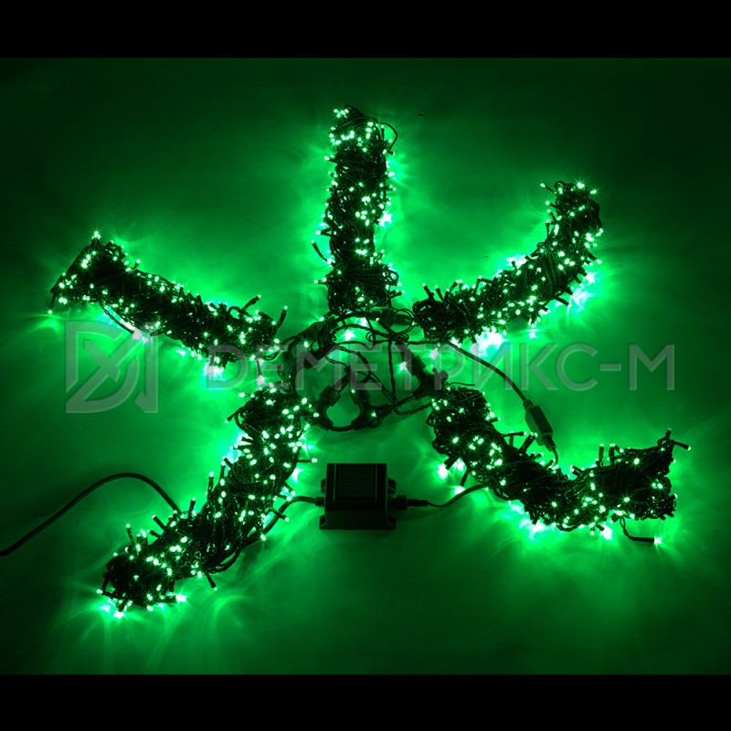Клип лайт Зеленый Фиксинг (постоянное) 24 В трансформатор в комплекте