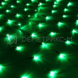 Светодиодная сеть 2х4 м (зеленая), фиксинг, 540 светодиодов