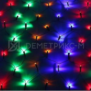 Светодиодная сеть 2х2 м (многоцветная), чейзинг, 288 светодиодов