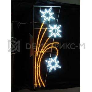 """Консоль подвесная """"3 Белых Звезды"""", цвет Белый и желтый, размер 2,5х0,87м, потребляемая мощность 78Вт"""