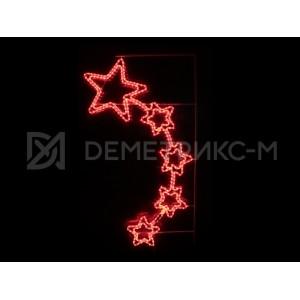 """Консоль подвесная """"5 звезд"""",Красная, 150*88см, 360 светодиодов, 20Вт. 220 В, фиксинг"""