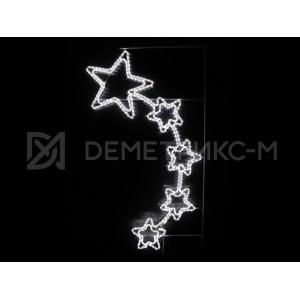 """Консоль подвесная """"5 звезд"""",Белая, 150*88см, 360 светодиодов, 20Вт. 220 В, фиксинг"""