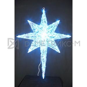 Звезда 3D Синяя, 100 светодиодов, 100х80х15 см, потребляемая мощность 9 Вт
