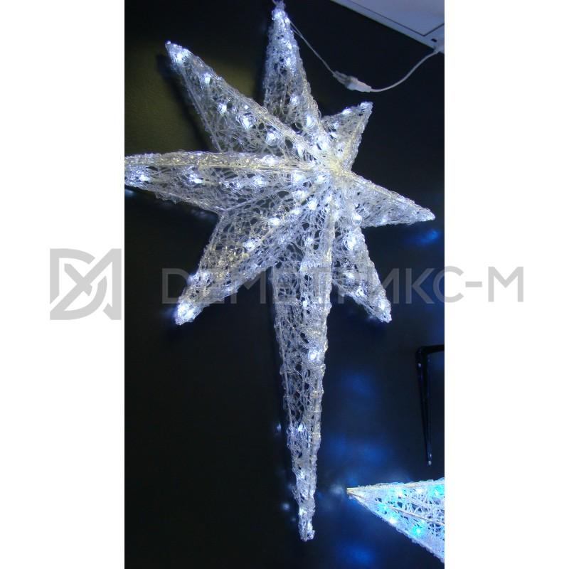 Звезда 3D Белая, 100 светодиодов, 100х80х15 см, потребляемая мощность 9 Вт