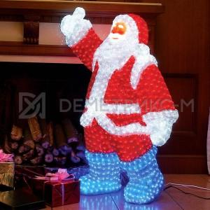 Дед Мороз светодиодный 3D 210х130 см, 24V/130W