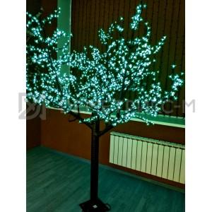 Светодиодное Дерево «Сакура» Зеленое, 1,5М, 450 светодиодов/цветков, IP 65, 36 В  (низковольтное)