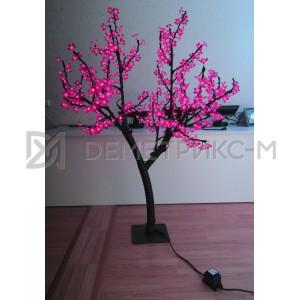Светодиодное Дерево «Сакура» Розовое, 1,5М, 450 светодиодов/цветков, IP 65, 36 В  (низковольтное)