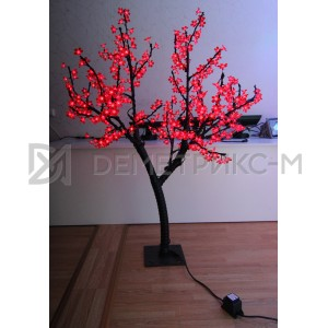Светодиодное Дерево «Сакура» Красное, 1,5М, 450 светодиодов/цветков, IP 65, 36 В  (низковольтное)