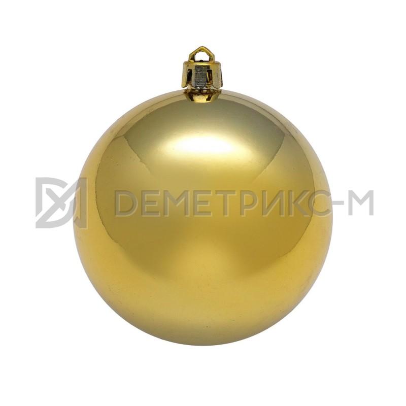 Шар ёлочный 50 см Золотой пластиковый глянцевый