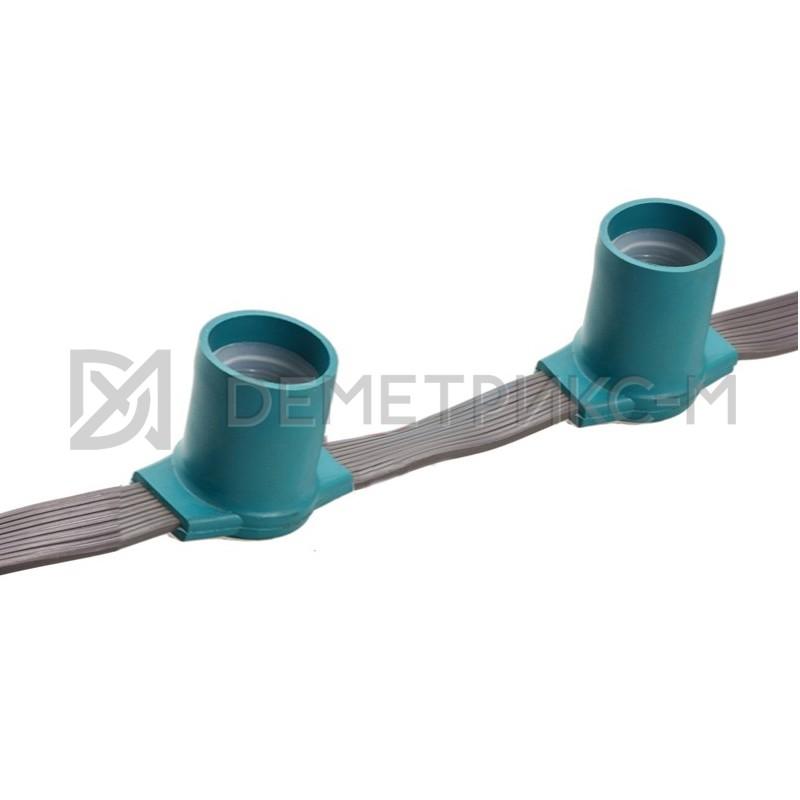 Белт-Лайт 5-х проводной Чейзинг, серый провод, зеленые патроны (бухта 50 м), 333 патронов E27