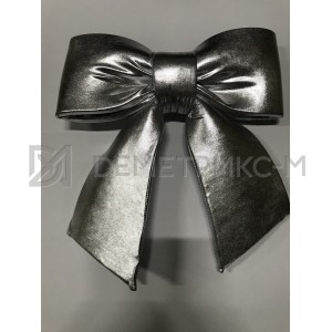 Бант серебряного цвета 30 см