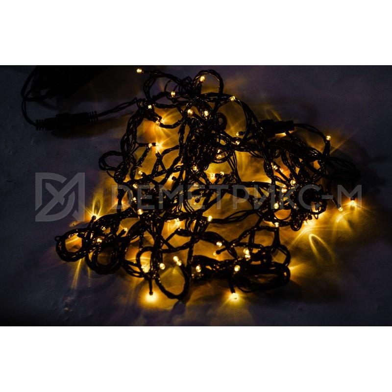 Гирлянда LED Желтый цвет, 10 м, 100 LED, 8,8 Вт