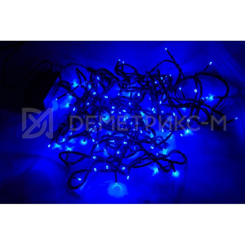 Гирлянда LED синего цвета, 10 м, 100 LED, 8,8 Вт