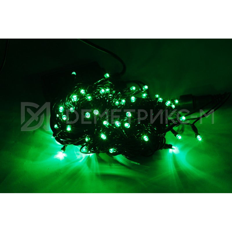 Гирлянда LED зеленого цвета, 10 м, 100 LED, 8,8 Вт