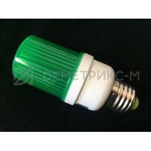 Строб-лампа Зеленая Е27 LED (Светодиодная) (Лампа-вспышка)