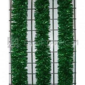 Мишура новогодняя Зеленая d=10см длина 2м
