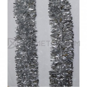 Мишура новогодняя Серебро d=10см длина 2м