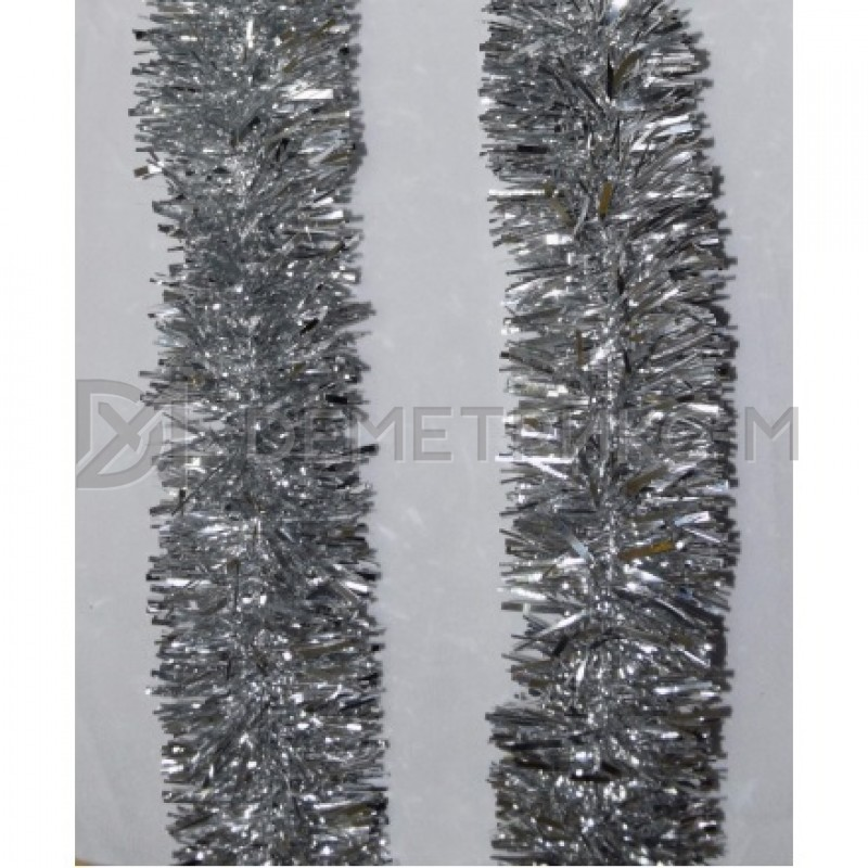 Мишура новогодняя Серебро d=5 см длина 2м
