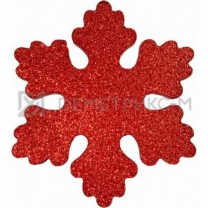Снежинка Искра 10 см красная