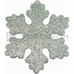 Снежинка Искра 10 см серебряная