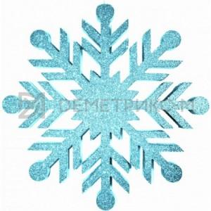 Снежинка Резная 100 см бирюзовая