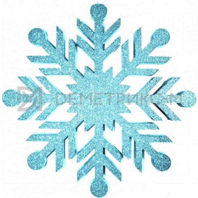 Снежинка Резная 40 см бирюзовая