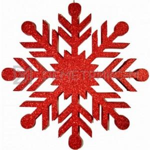 Снежинка Резная 100 см красная