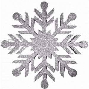 Снежинка Резная 100 см серебряная